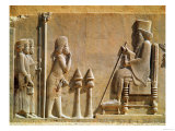 A Median Officer Paying Homage to King Darius I (circa 550-486 BC) from the Treasury, circa 515 BC Giclee Print