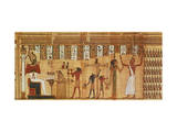 The Judgement of Osiris, Detail from a Book of the Dead, Late Period (Papyrus) Giclee Print