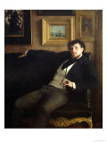 Portrait of Ernest Duez (1843-96) 1876 Giclee Print by Paul Mathey
