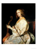 Young Woman Playing a Viola Da Gamba Reproduction proc&#233;d&#233; gicl&#233;e par Sir Anthony Van Dyck