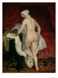 Young Woman Going to Bed, circa 1650 Giclee Print by Jacob van Loo