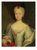 Maria Barbara De Braganza (D.1758) Queen of Spain (Oil) Giclee Print by Domenico Dupra