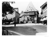 An Old Hotel in the Town Square, Goslar, circa 1910 Giclee Print by  Jousset