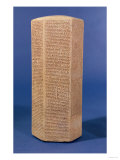 Hexagonal Cylinder of Sennacherib, King of Assyria, 705Bc-681 BC Reproduction procédé giclée