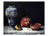 Still Life with a Pomegranate Giclee Print by Théodule Augustin Ribot