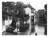 Boating on the River Gera at Erfurt, Thiringia, circa 1910 Giclee Print by Jousset