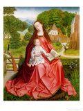Virgin and Child in a Garden Giclee Print by Master of the Embroidered Foliage 