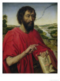 St. John the Baptist, Left Hand Panel of the Triptych of the Braque Family Giclee Print by Rogier van der Weyden