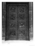 View of the Door of La Madeleine of Eight Relief Panels of the Decalogue and Old Testament Giclee Print by Henri Joseph de Triqueti