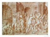 Cylopses in the Forge of Vulcan Giclee Print by Francesco Primaticcio