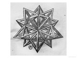 "Dodecahedron, from ""De Divina Proportione"" by Luca Pacioli, Published 1509, Venice Giclee Print by  Leonardo da Vinci"