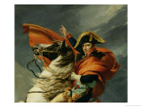 Napoleon Crossing the St. Bernard Pass, circa 1801 (Detail) Giclee Print by Jacques-Louis David