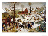 The Census at Bethlehem Giclée-Druck von Pieter Brueghel the Younger