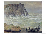 Rough Sea at Etretat, 1883 Giclee Print by Claude Monet