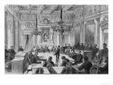 Members of the Commune in Session at the Hotel De Ville, Salle Des Maires, Paris, 1871 Giclee Print by Auguste Victor Deroy