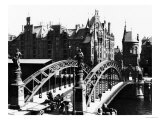 Bridge in the Speicherstadt (Warehouse City) Hamburg, circa 1910 Premium Giclee Print by  Jousset