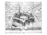 "Reconstruction of Theleme Abbey, Illustration from ""Rabelais Et L'Architecture De La Renaissance"" Giclee Print by  Questel"
