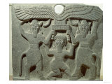 Relief Depicting Gilgamesh Between Two Bull-Men Supporting a Winged Sun Disk, Fr.Tell-Halaf, Syria Giclee Print