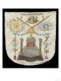 Apron of a Master of the Saint-Julien Lodge in Brioude (Painted Leather) Giclee Print