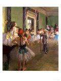 The Dancing Class, circa 1873-76 Giclée-trykk av Edgar Degas