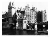 View of the Speicherstadt (Warehouse City) Hamburg, circa 1910 Giclee Print by Jousset