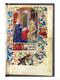 The Annunciation, from &quot;Heures D L&#39;Usage De Rome,&quot; circa 1465 Giclee Print by Jean Fouquet