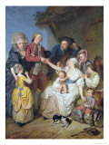Charity, 1777 Giclee Print by Pierre Alexandre Wille