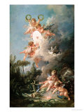 "Cupid's Target, from ""Les Amours Des Dieux,"" 1758 Giclee Print by Francois Boucher"