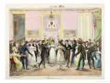 A Society Ball, Engraved by Charles Etienne Pierre Motte (1785-1836) 1819 Giclee Print by Hippolyte Lecomte