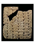 Tablet with Cuneiform Script, from Uruk, circa 3200 BC Giclee Print