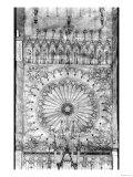 Design for the Rose Window and Gallery of Kings on the Facade of Strasbourg Cathedral, circa 1380 Giclee Print