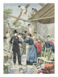 "The Expulsion of the Poor from the Slums, from ""Le Petit Journal,"" 28th June 1895 Giclee Print by Oswaldo Tofani"