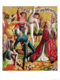 The Stoning of St. Stephen, from the Altarpiece of St. Stephen, circa 1470 Impressão giclée por Michael Pacher