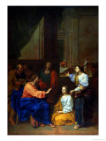Christ with Martha and Mary Giclee Print by Claude Simpol