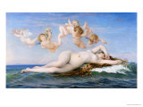 Birth of Venus, 1863 Premium Giclee Print by Alexandre Cabanel