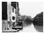 The River Gera at Erfurt, Thiringia, circa 1910 Giclee Print by  Jousset