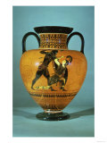 Athenian Black-Figure Neck Amphora of Achilles Slaying the Amazon Queen Penthesilea at Troy Giclee Print