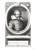 Philip De Mornay, Count of Plessis (1549-1623) Reproduction procédé giclée par George Vertue