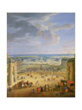 Perspective View from the Chateau of Versailles of the Place D'Armes and the Stables, 1688 Premium Giclee Print by Jean-Baptiste Martin