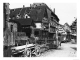 View of the Old Quarter, Ulm, circa 1910 Giclee Print by Jousset