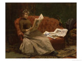 Lady Reading Giclee Print by Ernest Sigismund Witkamp