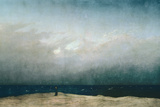 Caspar David Friedrich - Mnich u moře, 1809 Digitálně vytištěná reprodukce