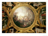 The Chariot of Apollo, Ceiling Painting from the Salon of Apollo Giclee Print by Charles de Lafosse