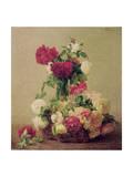 Roses, 1891 Giclee Print by Henri Fantin-Latour
