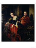 Portrait of a Husband and Wife, 1654 Giclee Print by Ferdinand Bol