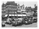 The Market Place at Trier, circa 1910 Giclee Print by Jousset