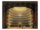 La Scala, Milan, During a Performance Reproduction proc&#233;d&#233; gicl&#233;e