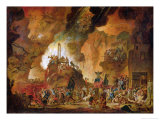 The Triumph of the Guillotine in Hell Giclee Print by Nicolas Antoine Taunay
