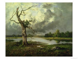 French River Landscape Giclee Print by Leon Richet