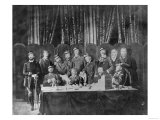 Members of the Commune at the Hotel De Ville in Paris and Field Officers Deliberating, 1871 Giclee Print